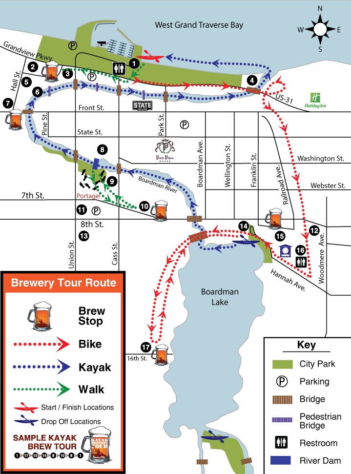 Traverse City Kayak Brewery Tours